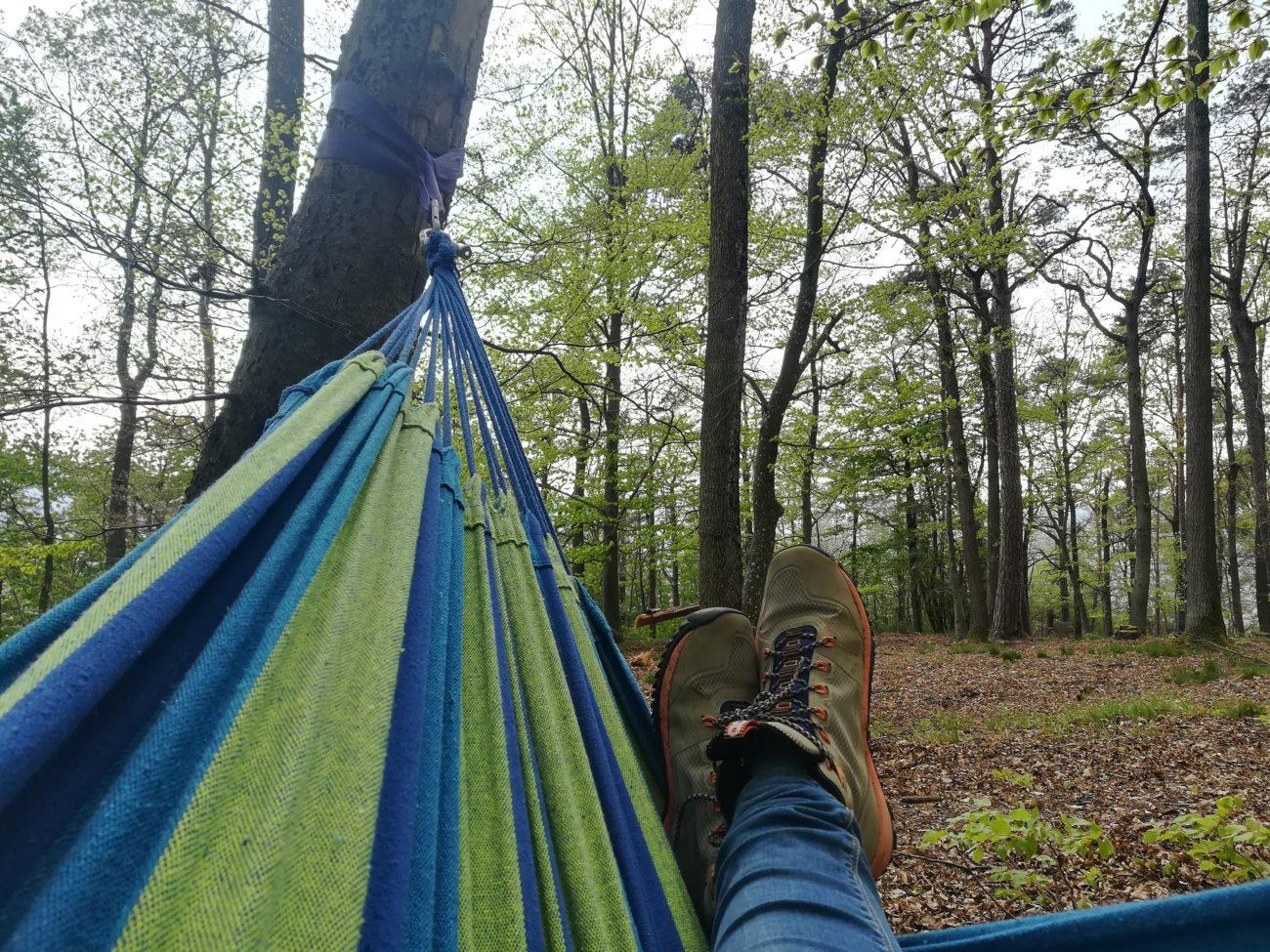 Hängematte im Wald