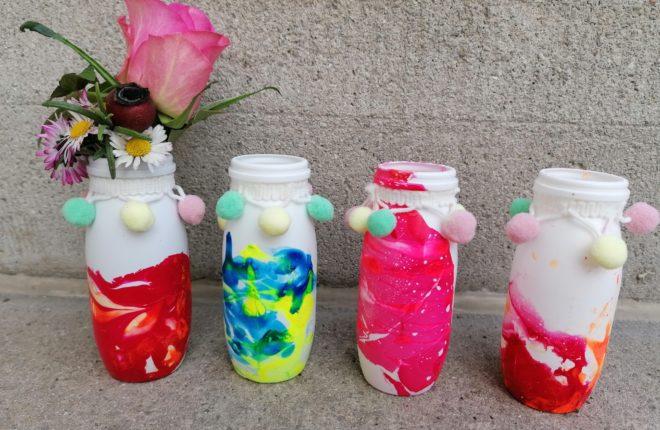 Vase für Kinder Gänseblümchen